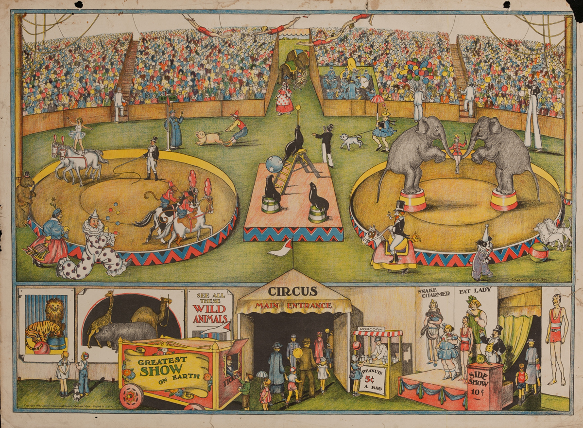American Schoolhouse Poster Circus