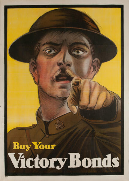 Buy Your Victory Bonds, Original Canadian WWI Poster