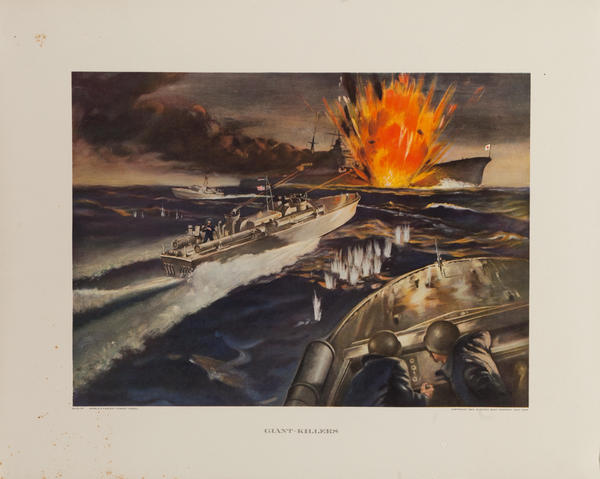 Giant Killers, Original Electric Boat Company, WWII Poster