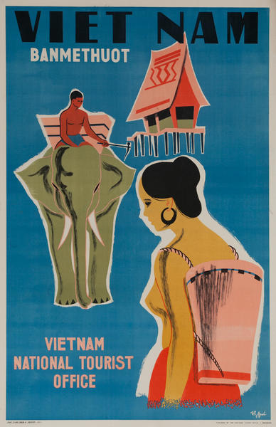 Banmethuot, Vietnam National Tourist Office Original Travel Poster