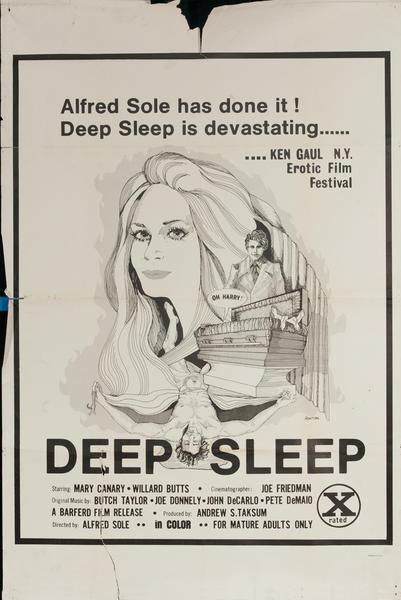 Deep Sleep, Original One Sheet X Rated Movie Poster