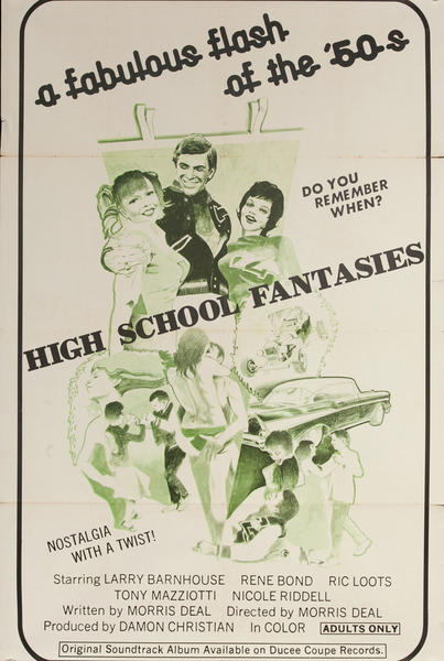 High School Fantasies, Original One Sheet X Rated Movie Poster