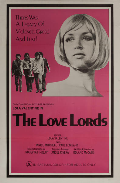 The Love Lords, Original One Sheet X Rated Movie Poster