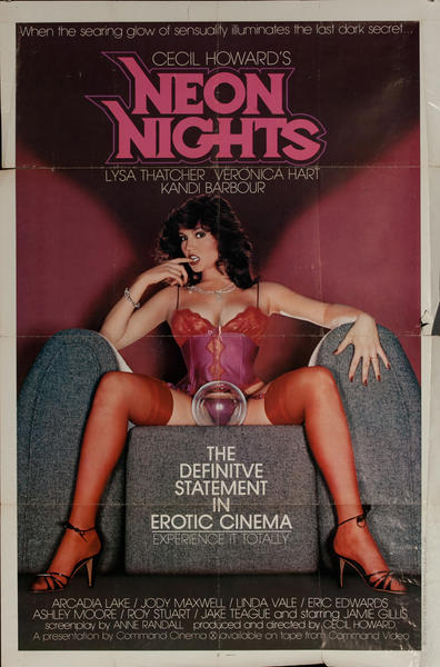 Neon Nights, Original One Sheet X Rated Movie Poster