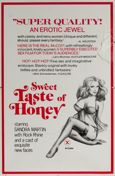 Sweet Taste of Honey, Original One Sheet X Rated Movie Poster