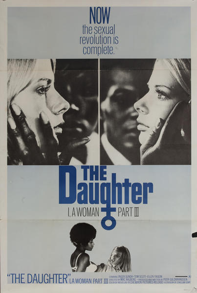 The Daughter, I A Woman Part III, Original One Sheet X Rated Movie Poster