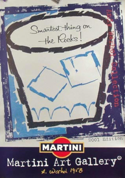 Martini Rossi Original Andy Warhol Advertising Poster Smartest Thing on the Rocks