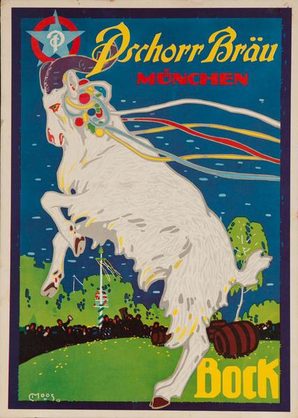 Pschorr Bräu, München, Original German Book Beer Poster