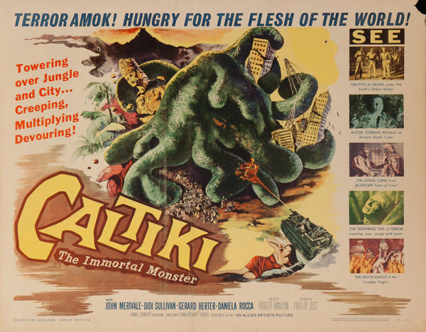 Caltiki, The Immortal Monster, Original American Horror Movie Poster