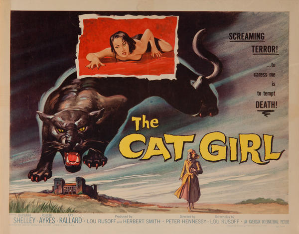 The Cat Girl, Original American Horror Movie Poster