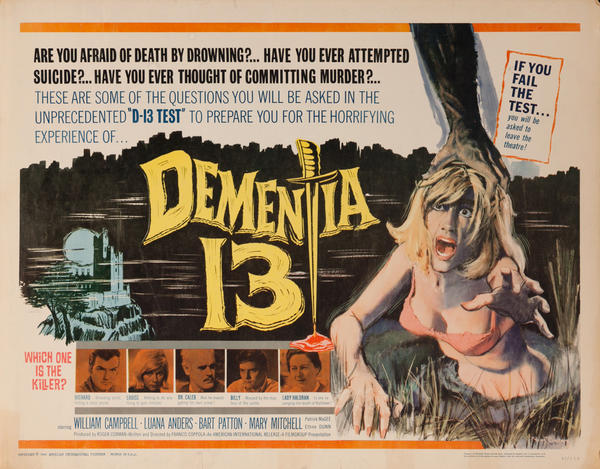 Dementia 13, Original American Horror Movie Poster