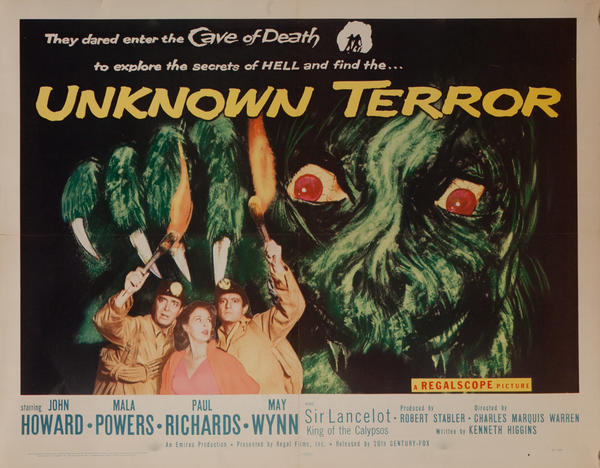 Unknown Terror, Original American Horror Movie Poster