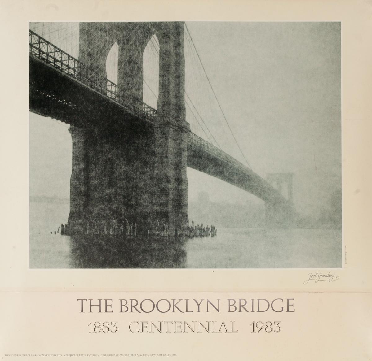 1883 1993 Brooklyn Bridge Centennial Poster