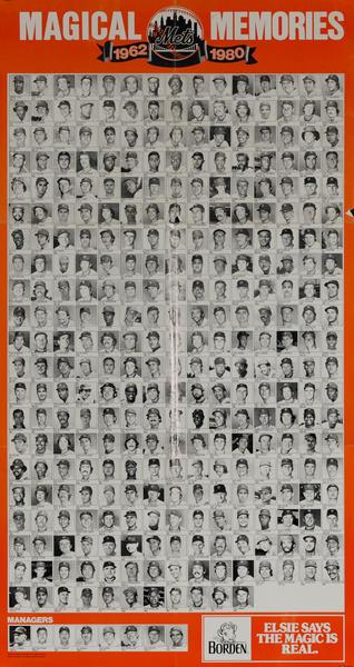 Magical Memories, New York Mets, 1962-1980 Original Baseball Poster