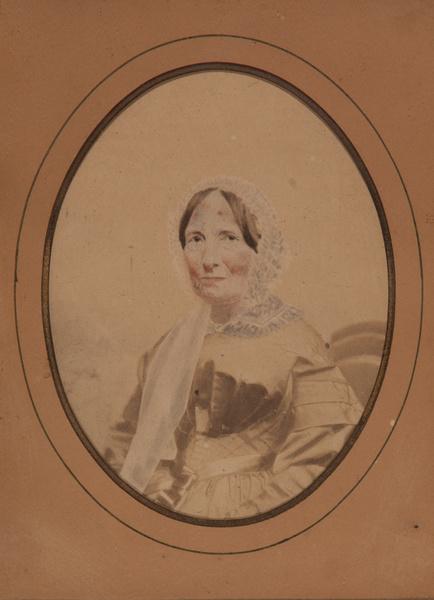 Vintage Salt Print Portrait of a Woman