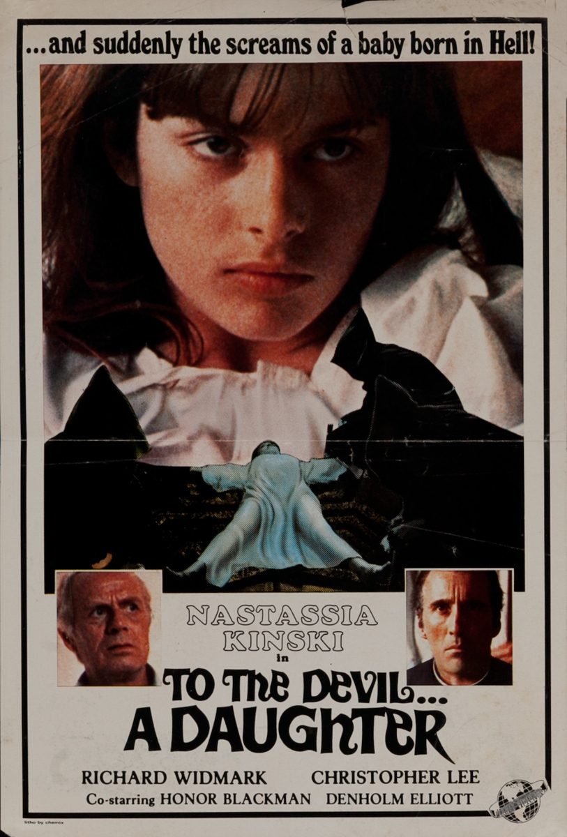 To The Devil a Daughter, 1 Sheet Movie Poster