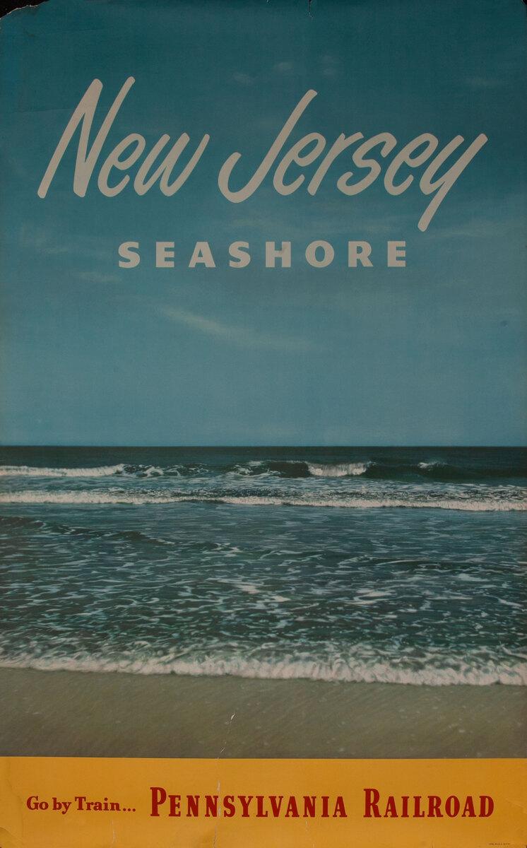 New Jersey Seashore, Go by Train... Original Pennsylvania Railroad Poster