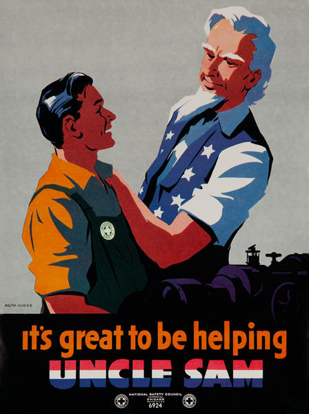It's Great to Be Helping Uncle Sam, Original WWII Poster
