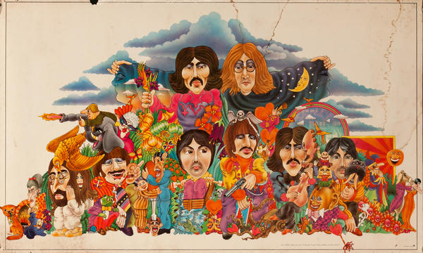Can YOU work out the 13 Beatles Song Titles hidden in this poster?
