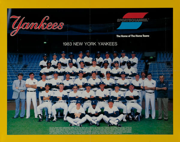 New York Yankee's 1983, Sports Channel Poster