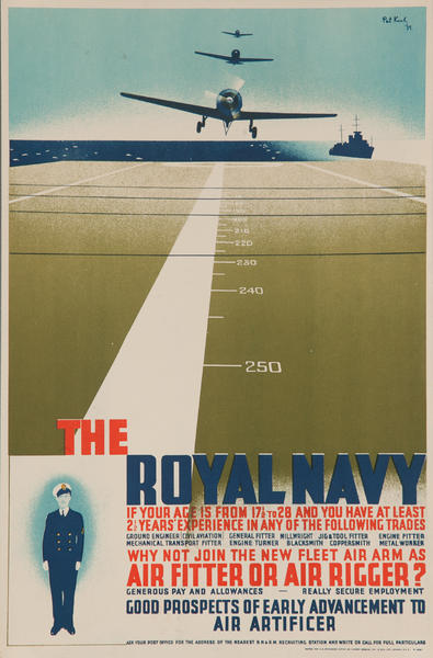 The Royal Navy, Original British WWII Recruiting Poster