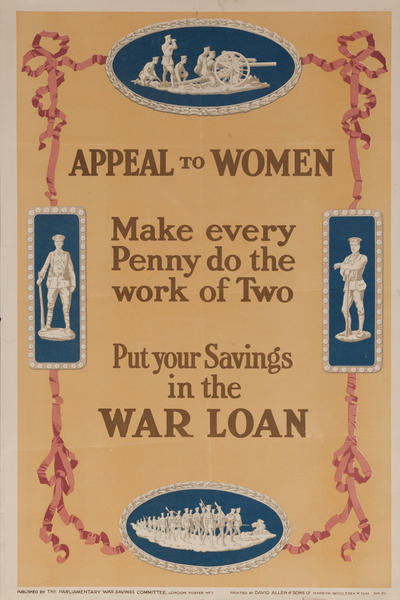 Appeal to Women, Original British WWI Poster