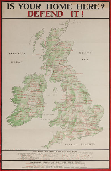 Is Your Home Here? Defend It!, Original British WWI Poster