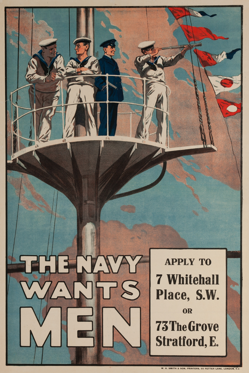 The Navy Wants Men, Original British WWI Poster