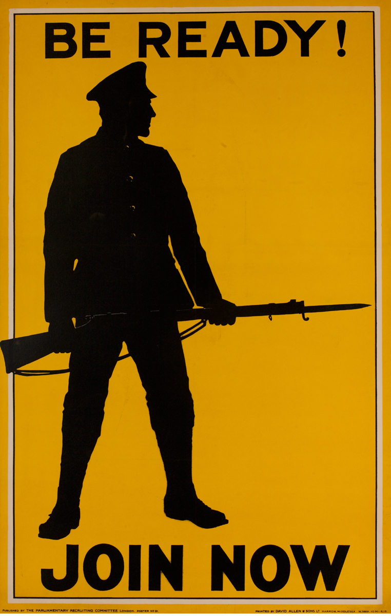 Be Ready!, Join Now, Original British WWI Poster