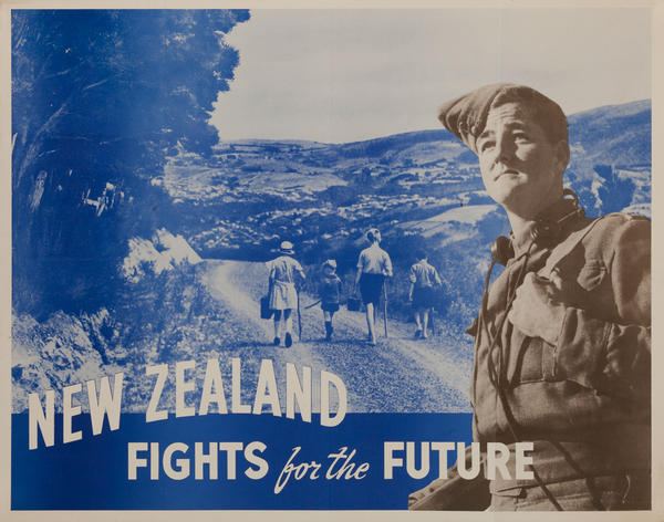 New Zealand Fights for the Future, Original WWII Poster