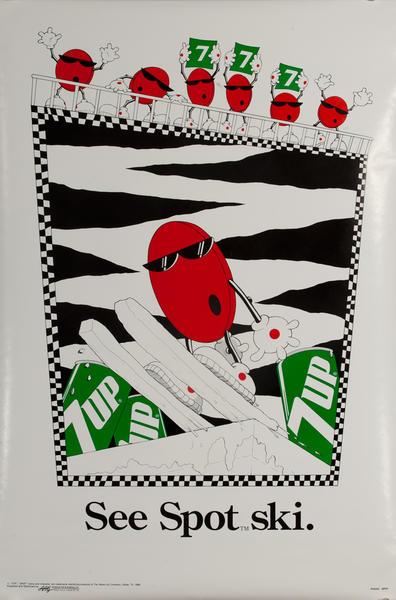 See Spot. Ski, Original 7Up Advertising Poster