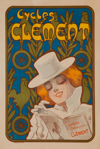 Cycles Clement Original French Bicycle Advertising Poster