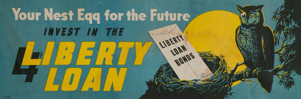 Your Nest Egg For The Future, Invest in the 4th Liberty Loan, Original WWII Australian Poster