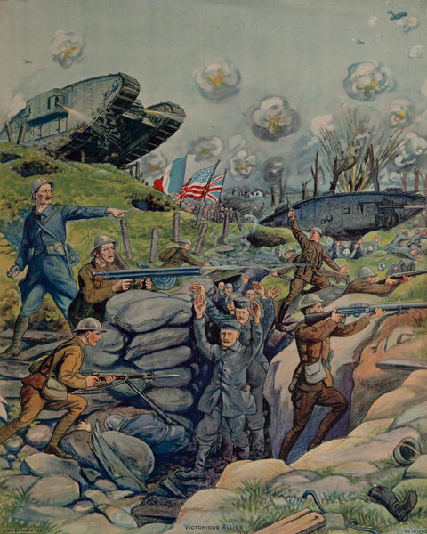 Victorious Allies, Original American WWI Print