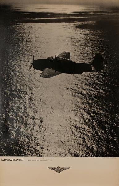 Torpedo Bombers, Original American WWII Navy Recruiting Poster