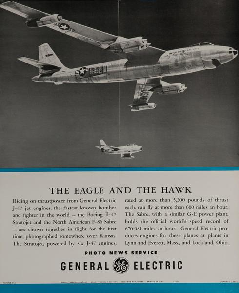 The Eagle and the Hawk, Original Korean War Era General Electric Promotional Poster