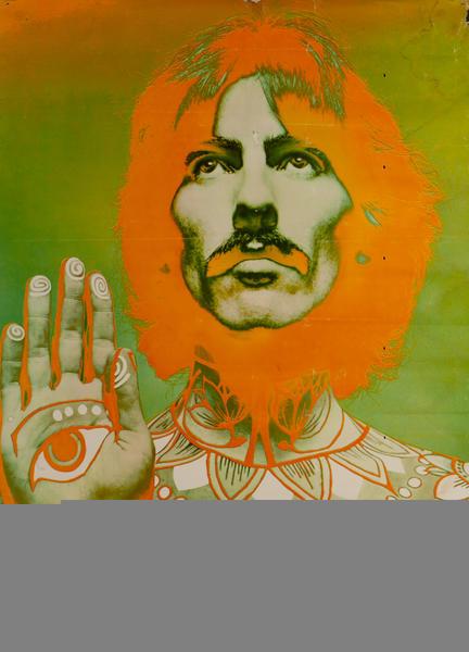 George Harrison Original Look Magazina Beatles Poster
