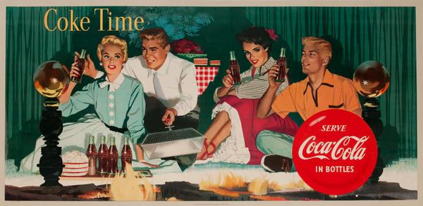 Coke Time, Serve Coca-Cola in Bottles<br>American Advertising Poster