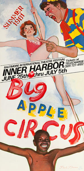 Big Apple Circus, Baltimore International Festival Poster