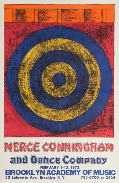 Merce Cunningham and Dance Company, Brooklyn Academy of Music Original Poster