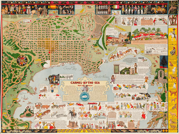 Carmel by the Sea, Past and Present, Original Souvenir Map Poster