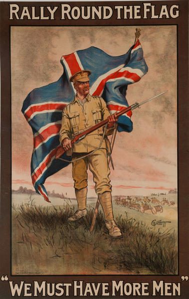 Rally Round the Flag, We Must Have More Men, Orignal British WWI poster