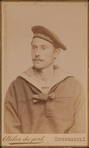 Danish CDV Sailor, Atelier du port, Copenhague C.