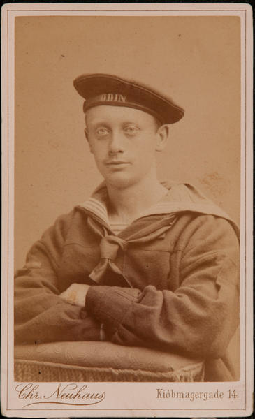 Danish CDV, Sailor, Chr. Neuhaus, Kjobmagergade 14, 2