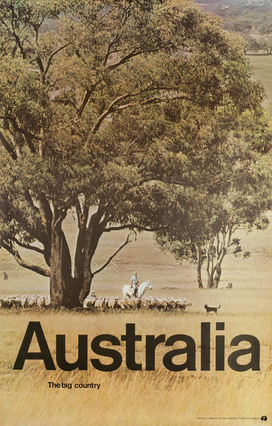 The Big Country, Original Australian Tourist Commission Travel Poster