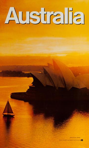 Sidney Opera House, Original Australian Tourist Commission Travel Poster