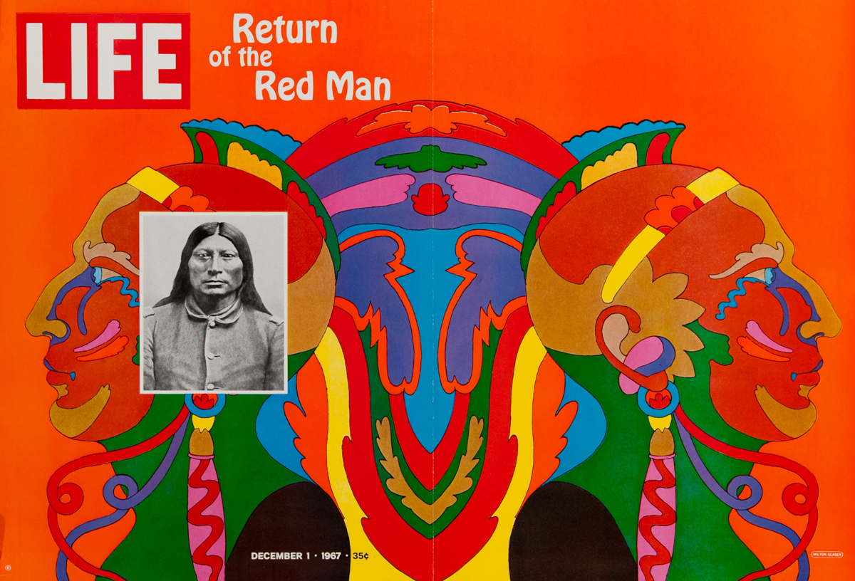 Life Magazine Cover Return of the Red Man