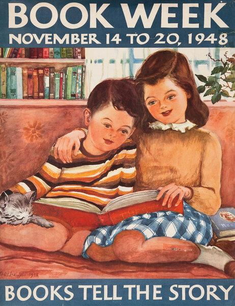 Original 1948 Children's Book Council Book Week Poster