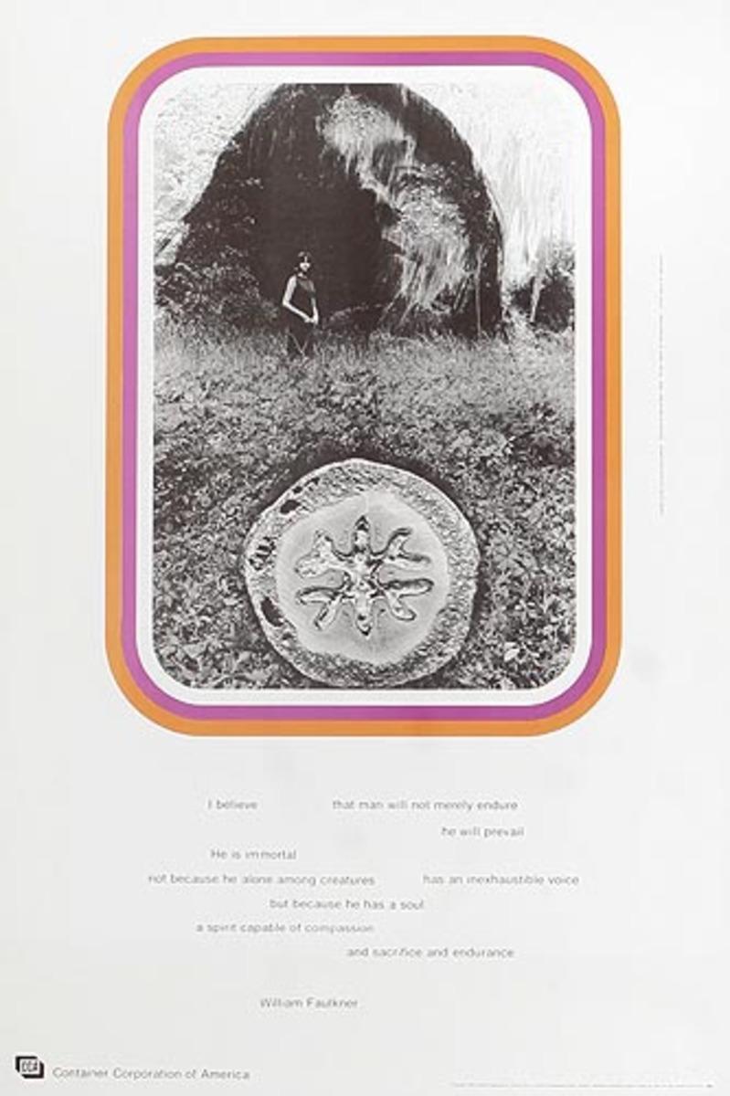 Container Corporation of America Original Public Relations Poster William Faulkner