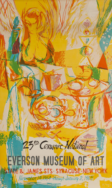 23rd Ceramic National Everson Museum of Art, Syracuse New York, Original Gallery Poster